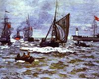 Claude Monet. The Entrance to the Port of Honfleur. 1867.