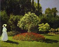 Claude Monet. Woman in the Garden (Saint-Adresse). 1867.