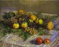 Claude Monet. Still Life with Pears and Grapes. 1880.