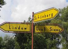Old street sign, East Mecklenburg, Germany