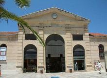 main entrance of Hanias market hall, the Agora