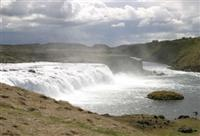 Faxi waterfall in the Golden Triangle of Iceland