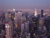 New York at night, New York, United States