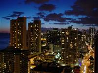 Honolulu at night, Hawaii, United States