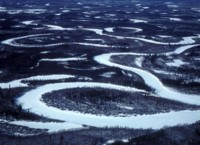 Yukon Flats Frozen Wetlands - Aerial View