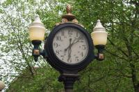 Clock in the garden