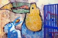 Graffiti of Parrots