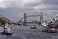 London Bridge, across the Thames, England.
