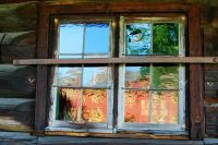 Log House Window