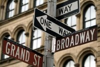 Broadway and Grand Street Signs, New York, USA