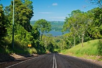 Road to Lake Baroon, Queensland, Australia