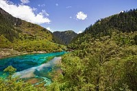 Five-Flowers Lake at Jiuzhaigou, Sichuan, China