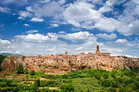 View of Pitigliano, Italy