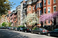 Elegant Brownstones in Back Bay, Boston, USA