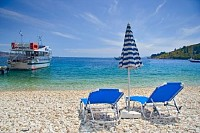 Beach Scene from Corfu Island, Greece