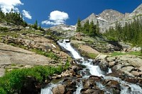 Waterfall in Colorado Rocky Mountains