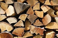 Heating Wood Logs