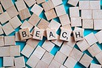 Beach Wooden Letter Blocks