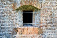 Barred Fort Window