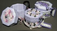 Lavender Hat Box Display