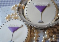 Cookies with Purple Martini Icing