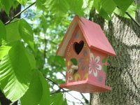 Pink Mini Birdhouse