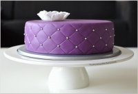Quilted Purple Cake