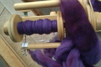 Spinning Purple Wool