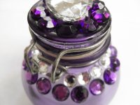Little Rhinestone Jar