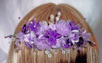 Purple and Lilac Hair Comb