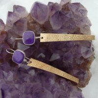 Deep Purple Sugilite Earrings