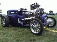 Purple People Eater Rat Rod