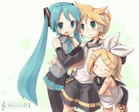 Rin, Len and Miku