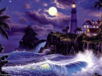 Purple Lighthouse
