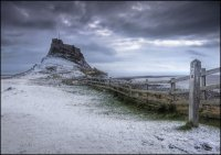 Lindisfarne Castle in winter