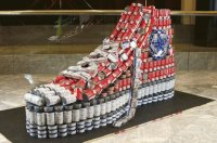 canned food as sneaker