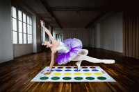 Ballerina Playing Twister