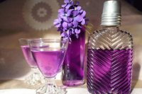 Purple Syrup and Cordials with Violets