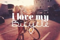 i love my bicycle....