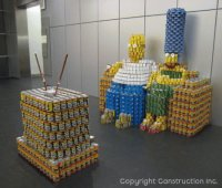 canned fruit art