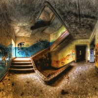 abandoned stairwell