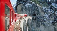 train in Alps