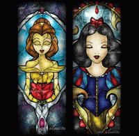 Stained-glass Belle SnowWHite
