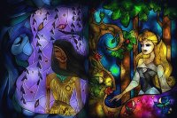 Stained-glass Pocahontas Aurora