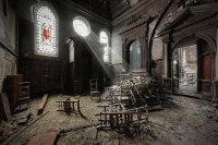 chapel in abandoned monastery
