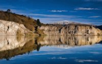 Lake Blue in St Bathans