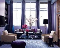 Calming Purple Sitting Room