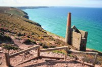 Cornish Mine stack and sea