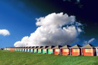 Primary beach huts