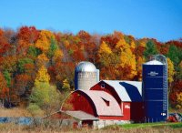 Wisconsin Farm in Autumn